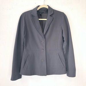 Eileen Fisher Charcoal Blazer womens size sx silk